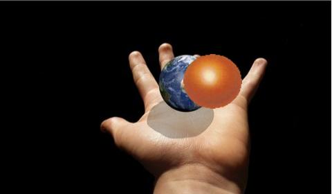 地球とチョコボール
