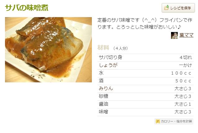 サバの味噌煮 葉ママ